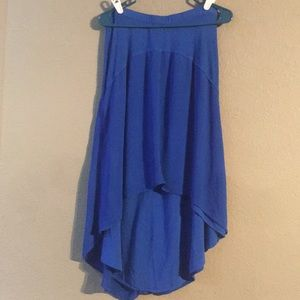 Blue Left Of Center Size M Midi High Low Skirt